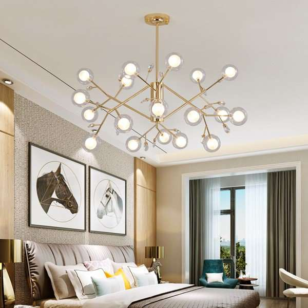 Iron Art,Glass,Crystal Restaurant,Study/ Bedroom,Living Room Plating Nordic\ IKEA Chandelier,18 Lights
