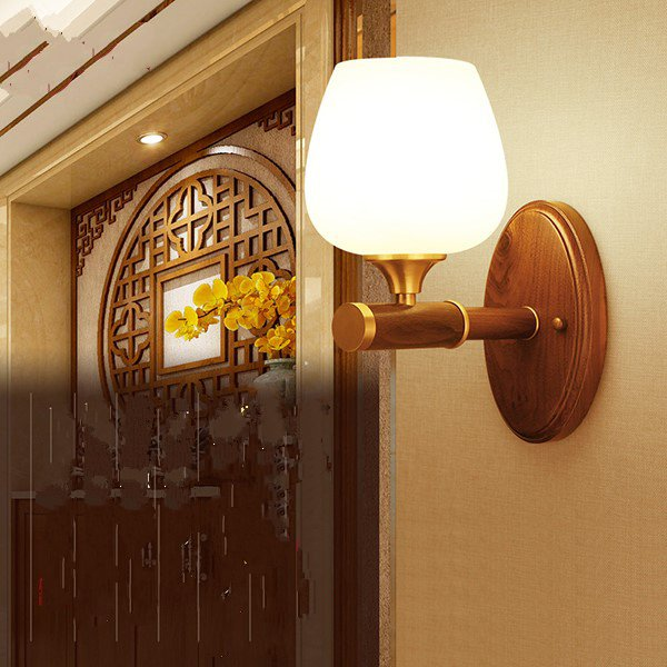 Glass,Copper,Wooden Staircase/ Corner,Villa/ The Hotel Lobby,Chess Room/ Mahjong Museum,Corridor/ Aisle/ Entrance,Study/ Bedroom Carved Chinese Wall Lamp, Single Head