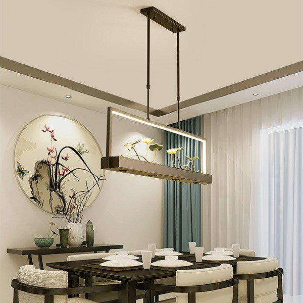 Iron Art,Ceramics,Aluminum Restaurant,Study/ Bedroom,Living Room Hot Bend New Chinese Chandelier,1 Lights
