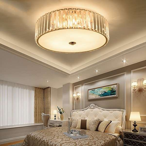 Iron Art,Crystal Study Room/ Bedroom,Corridor/ Aisle/ Porch Plating Modern Minimalist Ceiling Lamp