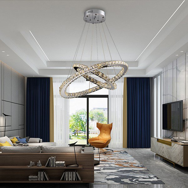 Crystal,Iron Art,Glass Study Room/ Bedroom,Restaurant Electric Punching Modern Minimalist Chandelier,2 Lights