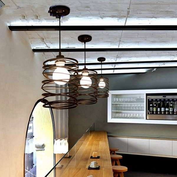 Iron Art Study Room/ Bedroom,Restaurant Paint Scrub Industrial Wind Chandelier,1 Lights
