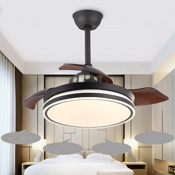 Copper,Iron Art,PC Restaurant,Study/ Bedroom,Living Room Modern Simple Fan Light,1 Lights