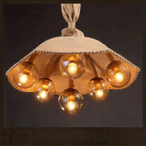 Iron Living Room,Restaurant Painted Frosted Vintage Chandelier,6 Lights