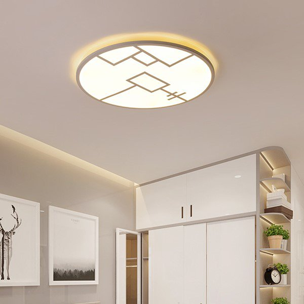 Iron Art,Acrylic Study Room/ Bedroom,Children's Room,Cloakroom Spray Paint Frosted Modern Minimalist Ceiling Lamp