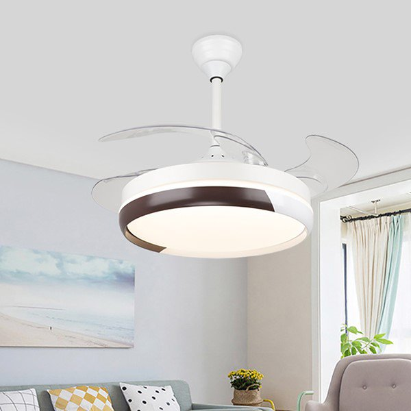 Iron Art,Acrylic Restaurant,Study/ Bedroom,Living Room Modern Simple Fan Light,1 Lights