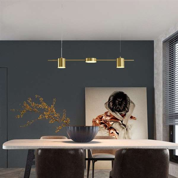 Copper Living Room,Study/ Bedroom,Restaurant Hot Bending Post Modern Chandelier,3 Lights