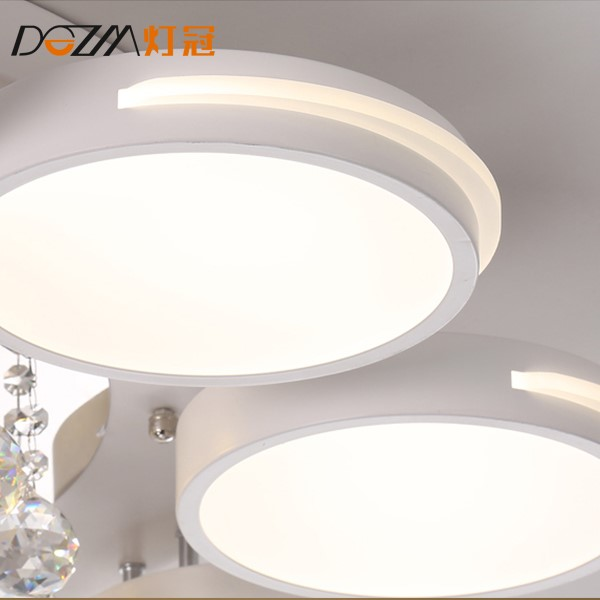 Iron Art,Crystal,Acrylic Living Room Spray Paint Frosted Modern Minimalist Ceiling Lamp