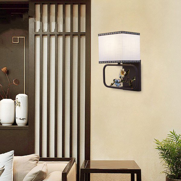 Iron Art,Zinc Alloy,Cloth Living Room,Study/ Bedroom,Corridor/ Aisle/ Porch Hot Bend New Chinese Wall Lamp, Single Head