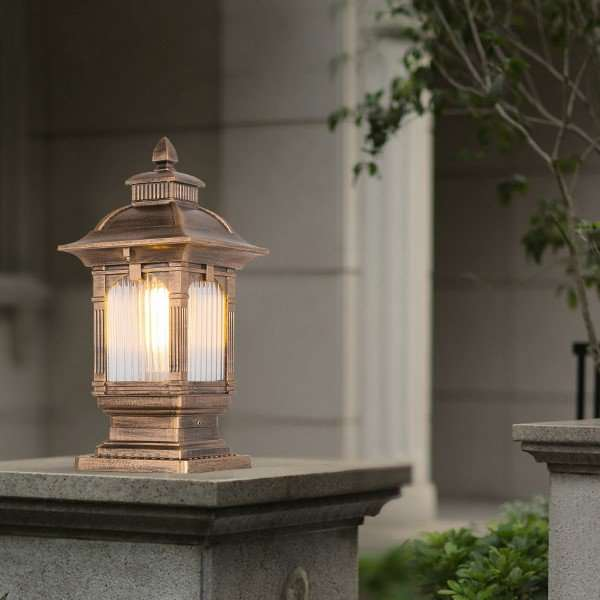 Aluminum,Glass Outdoor Die Cast European Outdoor Lamp