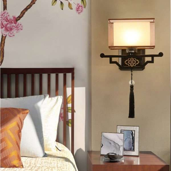 Iron Living Room,Study/ Bedroom Hot Bend New Chinese Wall Lamp, Single Head