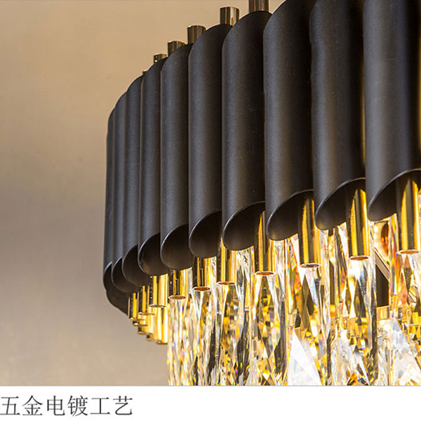 Iron Art,Crystal Children's Room,Cloakroom,Audio Visual Room Electroplating Light Luxury Chandelier,9 Lights