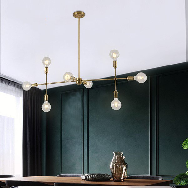 Copper,Glass Restaurant,Study/ Bedroom,Living Room And Other/other Postmodern Chandelier,8 Lights