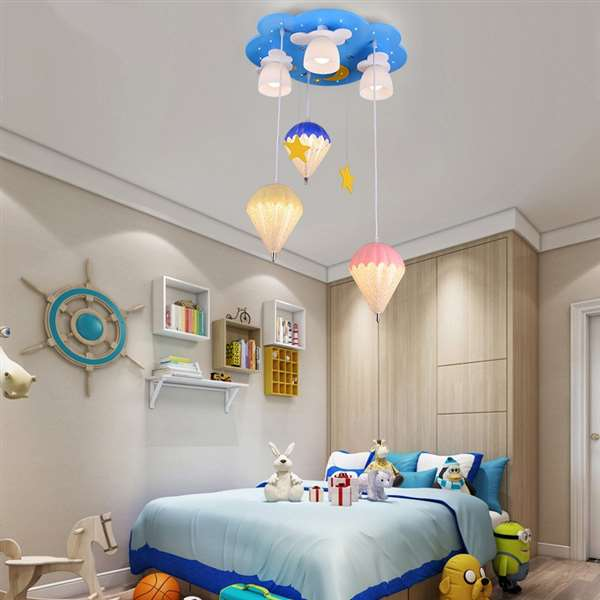 Wood Art,Glass,Acrylic Children's Room,Study/ Bedroom,Restaurant Painted Frosted Children/ Cartoon Chandelier,6 Lights