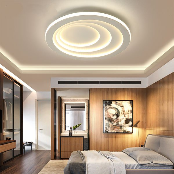 Iron Art,PVC Study/ Bedroom,Restaurant,Children's Room Spray Paint Frosted Modern Simple Ceiling Lamp