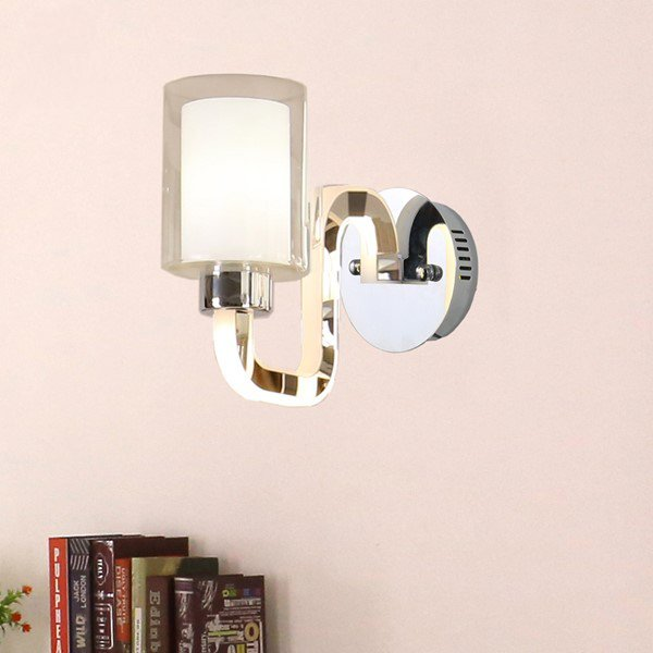 Acrylic,Stainless Steel Study Room/ Bedroom,Living Room Electric Punching Modern Minimalist Wall Lamp, Single Head