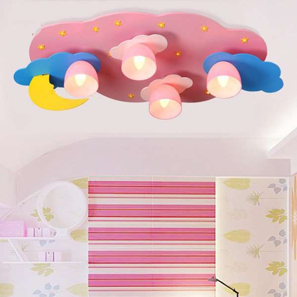 Glass,Wooden Children's Room Other/other Children/ Cartoon Ceiling Lamp