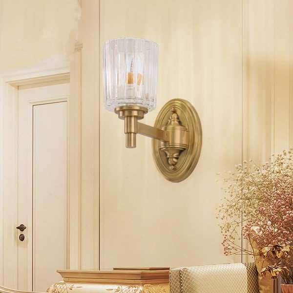 Glass,Copper Corridor/ Aisle/ Entrance,Other Dyeing American Simple Wall Lamp, Single Head