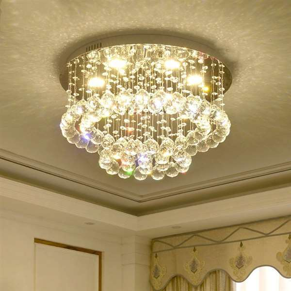 Crystal,Stainless Steel Living Room Brushed Hanging Modern Minimalist Ceiling Lamp