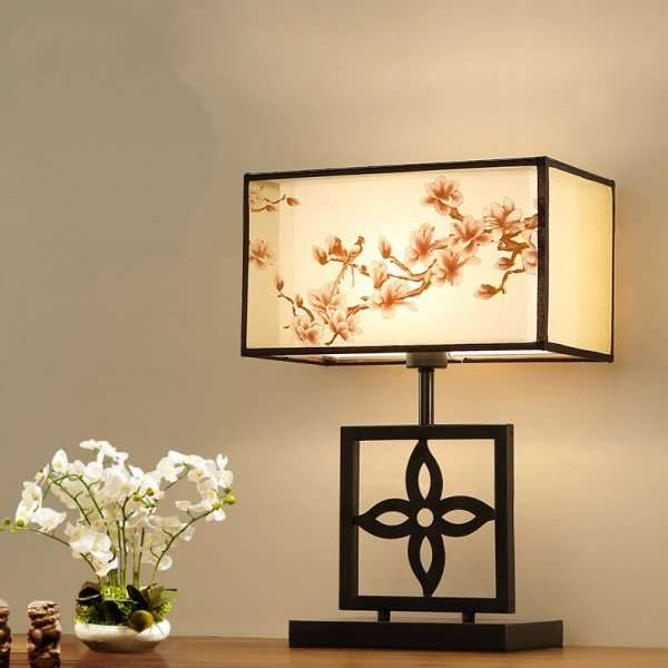 Iron Art,Wooden Living Room,Study/ Bedroom Hollow Carved New Chinese Table Lamp