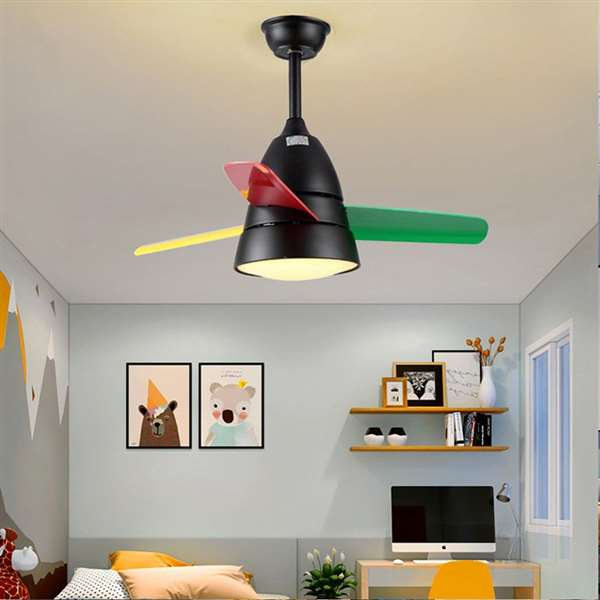 Iron Art,PVC Restaurant,Study/ Bedroom,Children's Room Children/ Cartoon Fan Light,1 Lights