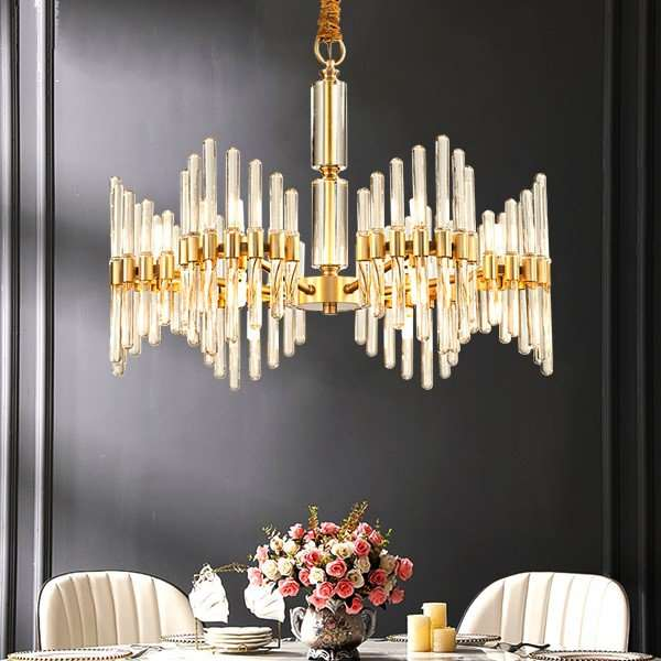 Copper,Glass Restaurant,Study/ Bedroom,Living Room Spray Paint Frosted Postmodern Chandelier,6 Lights