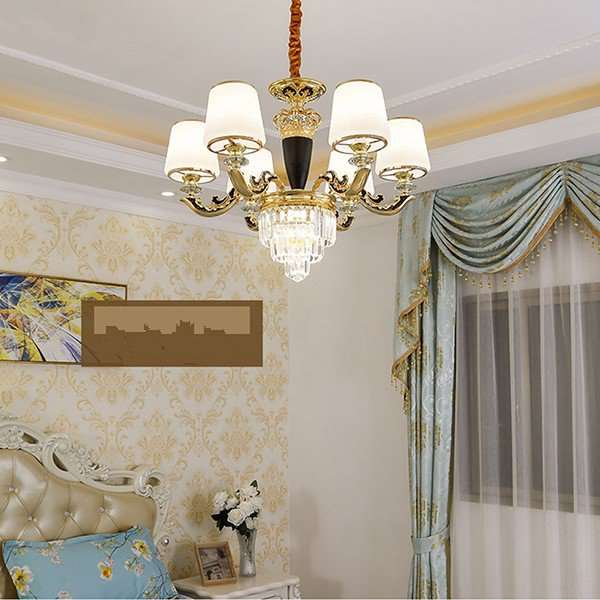 Glass,Crystal,Zinc Alloy Restaurant,Study/ Bedroom European Style Chandelier,6 Lights