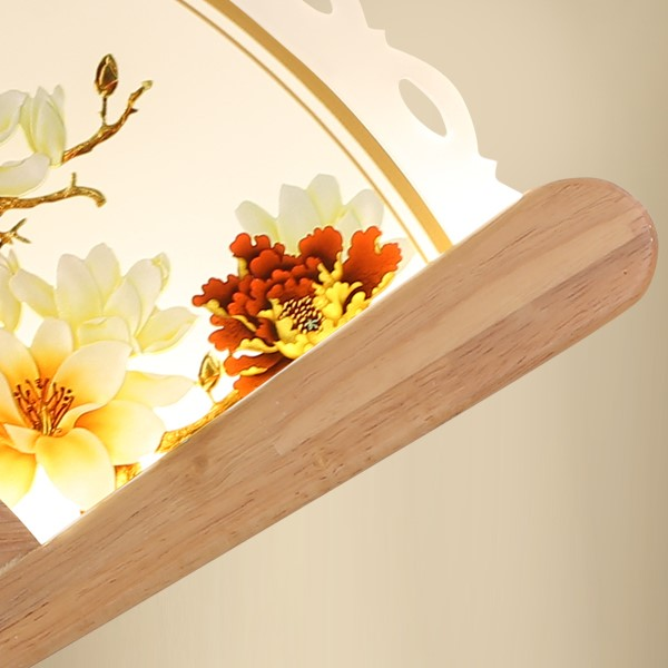 Wood Art,Acrylic Study Room/ Bedroom,Corridor/ Aisle/ Porch Stained Chinese Wall Lamp, Single Head