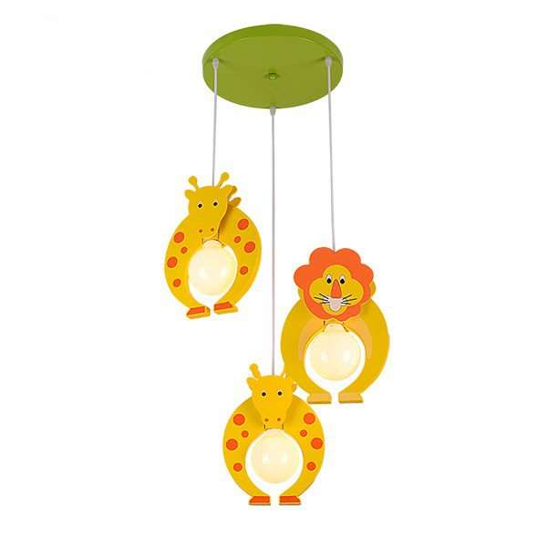 Iron Art,Wooden Children's Room Other/other Children/ Cartoon Chandelier,3 Lights
