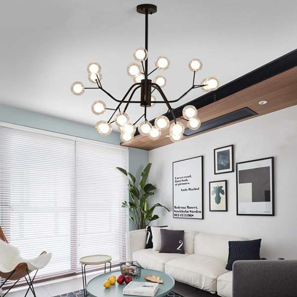 Iron Art,Glass Restaurant,Study/ Bedroom,Living Room Painting And Sanding North Europe\ IKEA Chandelier,24 Above The Head