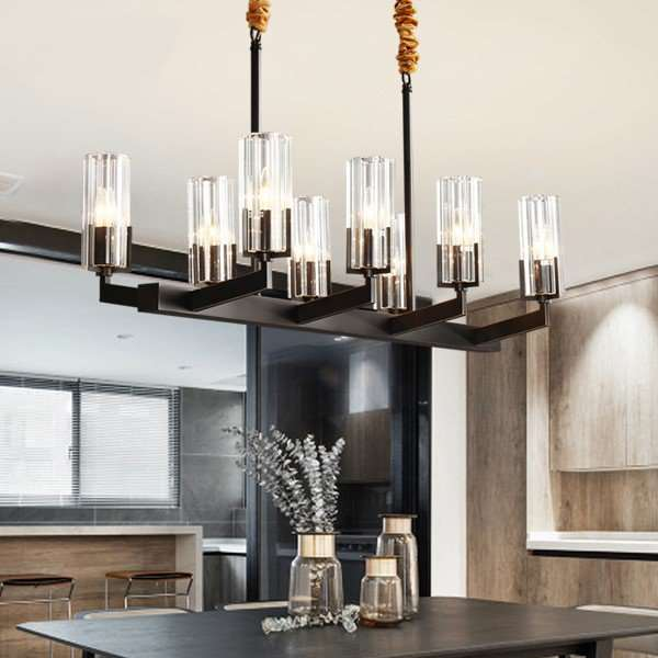 Copper,Crystal Restaurant Dyed Light Luxury Chandelier,8 Lights