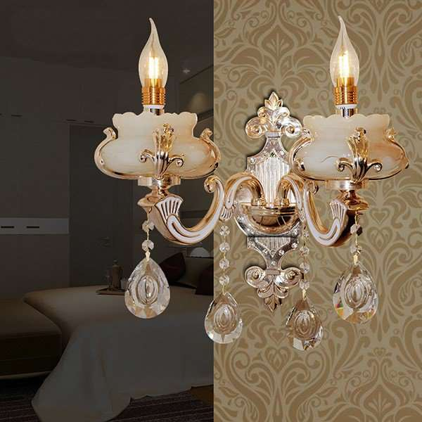 Iron Art,Zinc Alloy,Marble Corridor/ Aisle/ Entrance,Balcony Electroplating European Wall Lamp, Double Head