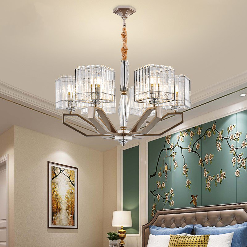 Crystal,Iron Living Room,Study/ Bedroom,Restaurant,Audio-visual Room,Children's Room,Stairs/ Corner,High Level/ Duplex,Cloakroom,Other,Chess Room/ Mahjong Museum,Villa/ Hotel Lobby Others/other Light Luxury Chandelier,6 Lights
