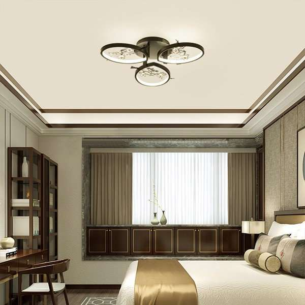 Iron Art,Ceramic Restaurant,Study/ Bedroom,Living Room Spray Paint Matte New Chinese Chandelier,3 Lights