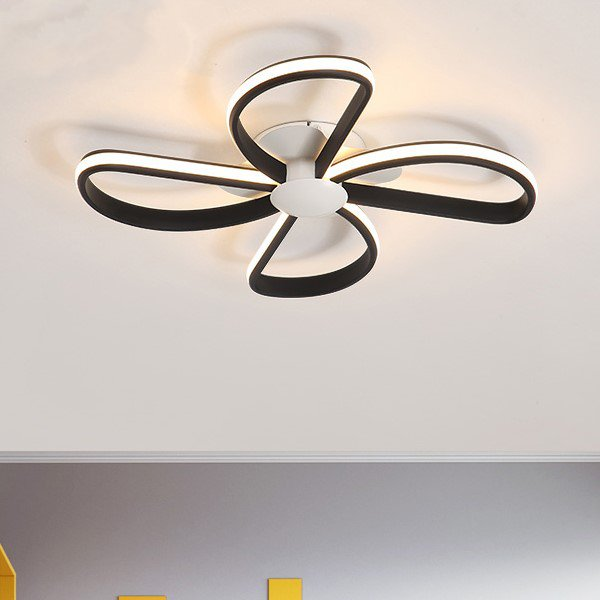 Iron Art,Aluminum,Acrylic Study Room/ Bedroom,Children's Room Spray Paint Frosted Modern Simple Ceiling Lamp