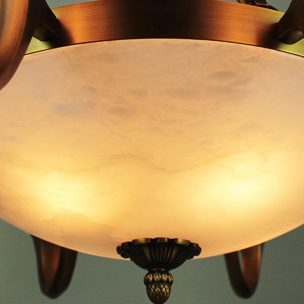 Copper,Marble Living Room,Villa/ New Chinese Chandelier For Hotel Lobby Dyeing,24 Above The Head