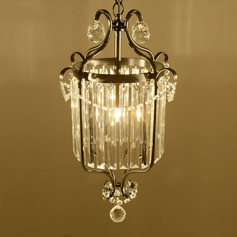 Iron Art Restaurant,Corridor/ Aisle/ Porch Spray Paint Frosted American Style Country Chandelier,1 Lights