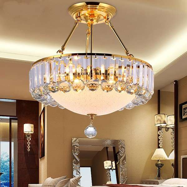 Iron Art,Glass,Crystal Restaurant,Study/ Bedroom Plating Modern Minimalist Chandelier,6 Lights