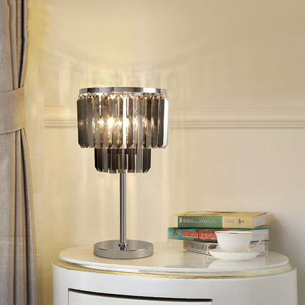 Iron Art,Crystal Living Room,Study/ Bedroom Electroplated Postmodern Desk Lamp