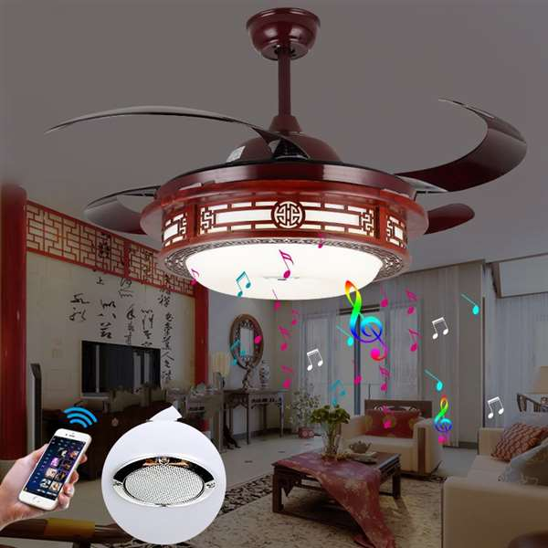 Iron Art,Crystal,Copper Living Room,Restaurant Plated Chinese Fan Light,1 Lights