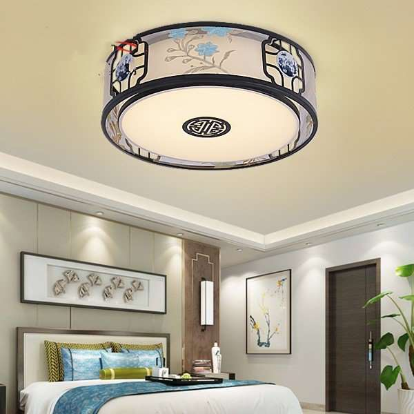 Iron Art,Cloth Art,Acrylic Study Room/ Bedroom,Chess Room/ Mahjong Hall Hollow Carved New Chinese Ceiling Lamp