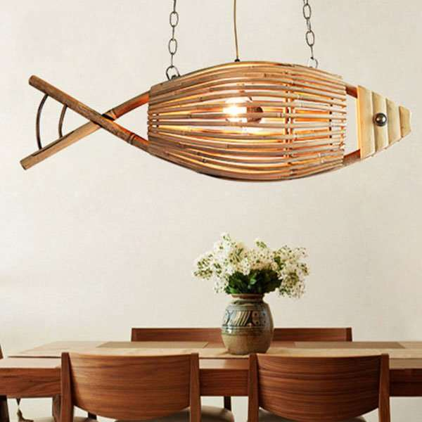 Wood Art,Bamboo Art Restaurant,Kitchen Other/other Pastoral Chandelier,2 Lights