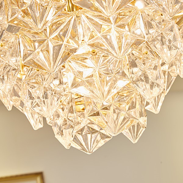 Iron Art,Crystal Study Room/ Bedroom,Dining Room Gilded Modern Simple Chandelier,8 Lights