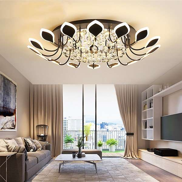 Iron Art,Crystal,Acrylic Living Room,Restaurant,Study/ Bedroom Spray Paint Frosted Modern Minimalist Ceiling Lamp