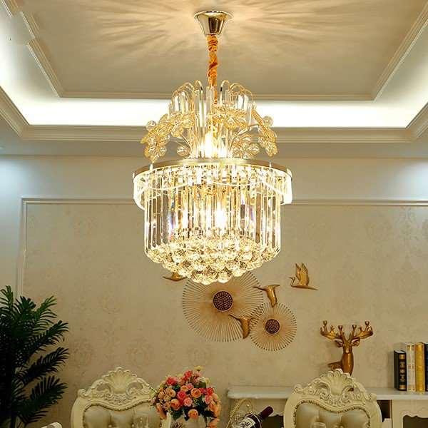 Crystal Study Room/ Bedroom,Restaurant Plated Modern Minimalist Chandelier