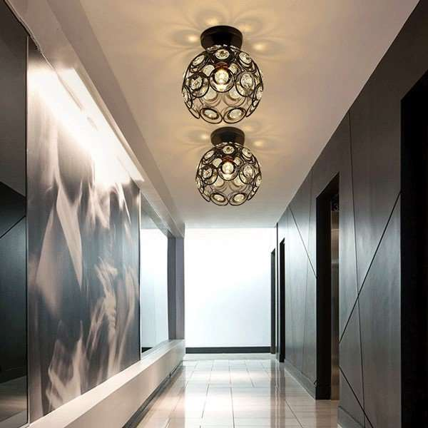 Iron Art Villa/ The Hotel Lobby,Corridor/ Aisle/ Entrance,Stairs/ Corner Spray Paint Frosted Art Personality Aisle Lights