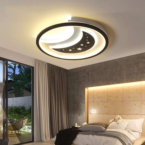 Iron Art,Acrylic,Aluminum Living Room,Study/ Bedroom,Restaurant Spray Matte Modern Minimalist Ceiling Lamp