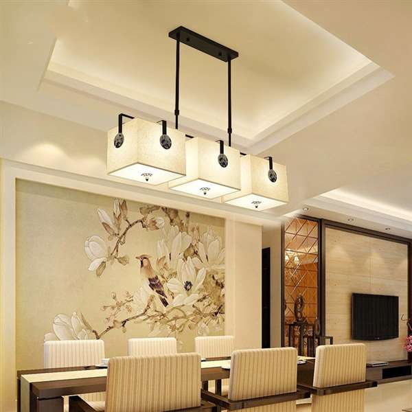 Iron Art,Cloth Art,Ceramics,Acrylic Restaurant Forged New Chinese Ceiling Lamp