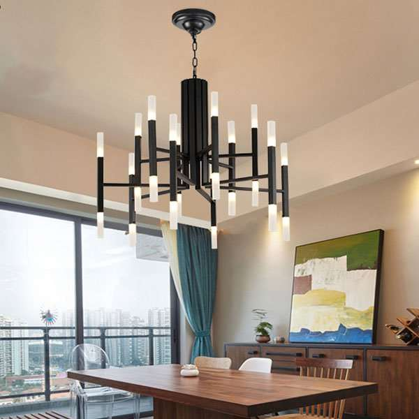 Iron Art,Acrylic Cloakroom,Audio-visual Room,Children's Room Painted Frosted Post Modern Chandelier,24 Above The Head