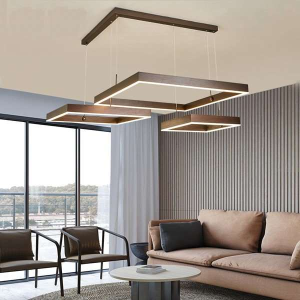 Aluminum,Acrylic,Iron Living Room,Restaurant,Study/ Bedroom Brushed Hanging Modern Minimalist Chandelier,3 Lights